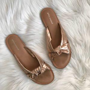 Jeffrey Campbell Zocalo Rose Gold Slide Sandals